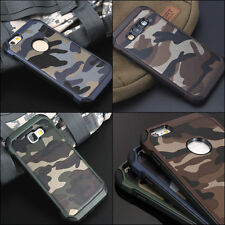 Camouflage Camo Case iPhone Military Army Rugged Rubber TEMPERED GLASS Combo