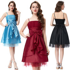 Sexy Formal Bow-Knot Ball Evening Prom Party Dress Mini Cocktail Bridesmaids New