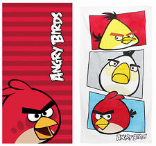 Angry Birds Kids Beach Bath Towel 2 Designs Great For Holiday Swimming Bathtime