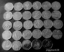 London Olympic Games fifty pence 50p coins