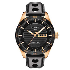 Tissot PRS 516 Automatic Gent T100.430.36.051.00 Black/Black Leather Analog Aut