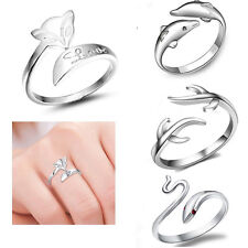 925 Sterling silver rings finger fashion women lady open Ring Suitable for Gift