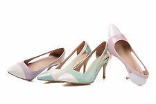 Women's High Heel Sandals Synthetic Leather Pointed Shoes Pumps AU All Size D706