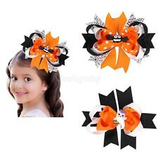 Bat Ghost Halloween Ribbon Bow Hair Clips Barrette Party Cosplay Photo Props
