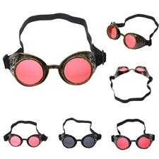 Cyber Goggles Steampunk Glasses Vintage Welding Punk Gothic Costume Victorian