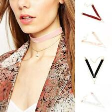 Pretty Velvet Chain Pearl Pendant Choker Collar Necklace Gothic Jewelry CHI