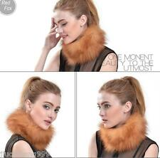 On Sale Genuine red/Silver Fox Fur Snoods/Cowl/Scarf/Cape/Shawls Natural soft