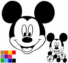 Mickey Mouse Wall Stickers x 3. Self Adhesive Mickey Mouse Wall Art.