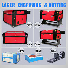 Co2 Laser Engraving Machine A-Axis Rotary Engraver Cutter Usb Port High Precise