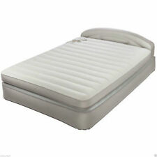 AEROBED - Self-Inflating Bed Inflatable Air Mattress Size Queen with Headboard