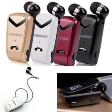 Wireless Bluetooth Headset Retractable Stereo Earphone For iPhone For Samsung