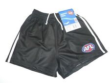 AFL COLLINGWOOD MAGPIES KIDS FOOTY SHORTS - BRAND NEW