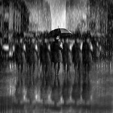 Girls in the Rain Print, Canvas or Stretched Canvas
