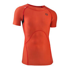 Mens Compression Short Sleeve Top Running Sports Gym Athletics Yoga CrossFit