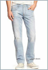 Banana Republic MENS Vintage SLIM ICE BLUE Wash JEANS NEW FREE FAST SHIPPING