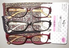 Foster Grant Xtrasight Reading Glasses 3 Pack with Cases +2.50 Retails $19.99