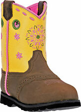 Johnny Popper Infant Girls Yello Leather Western Boots