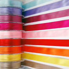 Double Faced Satin Ribbon - 10mm & 25mm - Red, Blue, Green, Yellow, Pink, Gold