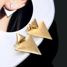 Stylish 1Pair Women Punk Style Triangle Earring Street Style Ear Stud Earring