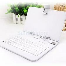 7 Inch 8 Inch Leather Case Cover with USB Keyboard Stylus for Android Tablet PC