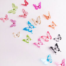 18PCS3D Butterfly Wall Stickers Art Decal DIY PVC Butterflies Home Room Decor