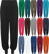 New Ladies Plus Size Harem Trousers Womens Full Leggings Stretch Pants