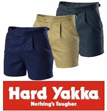 PACK OF 4 HARD YAKKA MENS SHORT LEG TAB SIDE DRILL UTILITY WORK SHORTS Y05501