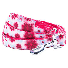 Blueberry Pet Vibrant African Pink Floral Small Medium Standard Dog Leash Lead