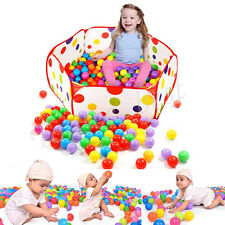 200pcs Colorful Ball Fun Ball Soft Plastic Ocean Ball Baby Kid Toy Swim Pit Toy