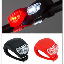 LED Bicycle Bike Cycling Silicone Head Front Rear Wheel Safety FlasH Light Lamp