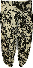 New Womens Plus Size Tie Dye Print Ladies Cuffed Harem Pants Trousers