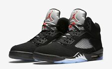 "Nike Air Jordan Retro 5 V OG ""METALLIC SILVER"" Black 845035-003 Men All Sizes DS"