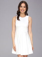 NWT $148 French Connection Super Chick Cotton Dress 6 White 71BLJ