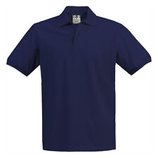 Boys Girls Navy Blue Pique Polo Shirt School Uniform Short Sleeve Sizes 4 to 18