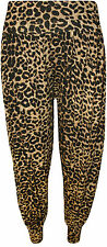 New Ladies Plus Leopard Animal Print Harem Trousers Womens Leggings Pants