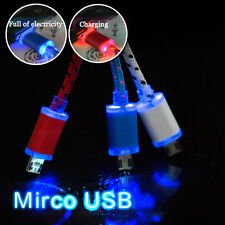 New LED Light Micro USB Charge Cord Data Sync Cable For Android SmartPhones Lot