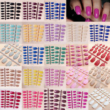 Designer False French Style 24 Pcs Nails Full Fashion Nail Tips Acrylic Hot 2016