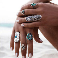 Retro Punk Style Boho Finger Rings Ring Vintage Geometry Womens