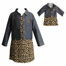 """Dollie Me Girl 4-14 and 18"""" Doll Matching Dress Jacket Outfit American Girls"""