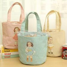 Cute Doll Portable Insulated Thermal Cooler Lunch Bag Picnic Travel Pouch Tote