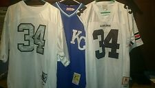 BO JACKSON JERSEY THROWBACK OAKLAND RAIDERS AUBURN NFL NEW SILVER NUMBERS