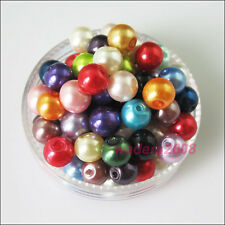 New Charms Glass Pearl Round Ball Loose Spacer Beads Mixed 4mm 6mm 8mm 10mm 12mm