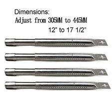 Adjustable BBQ Stainless Steel Gas Grill Burner Replacement for Most Gas Grill