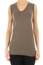 RICK OWENS LILIES women grey Wool blended Sleeveless T-shirt size 42 italy made