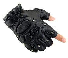 Men SWAT Military Airsoft Paintball Cycling Tactical Leather Half Finger Gloves