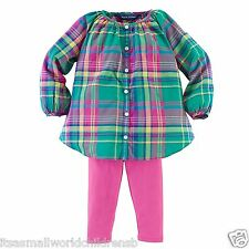 Baby Girls pink multi TUNIC & LEGGINGS SET * RALPH LAUREN 3/6M 9/12M BNWT
