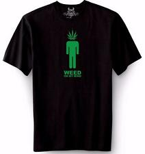 NEW MENS PRINTED WEED ON MY MIND MARIJUANA ADDICTED FUNNY GRAPHIC T-Shirt ALL SZ