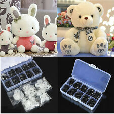 100X Black Plastic Safety Eyes For Teddy Bear Doll Animal Puppet Crafts 6-10mm