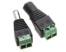 10Pairs 12v DC Male&Female Power Balun Connector Adapter Plug Jack For CCTV DI