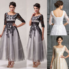 LADIES Wedding Party Dress Formal Evening Prom Cocktail Gown Plus Size 20 22 24+